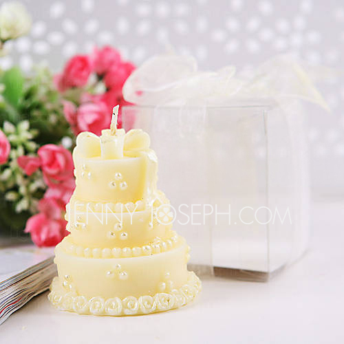 bougies de gâteau de mariage en jaune (jeu de 4)(096017619 ...