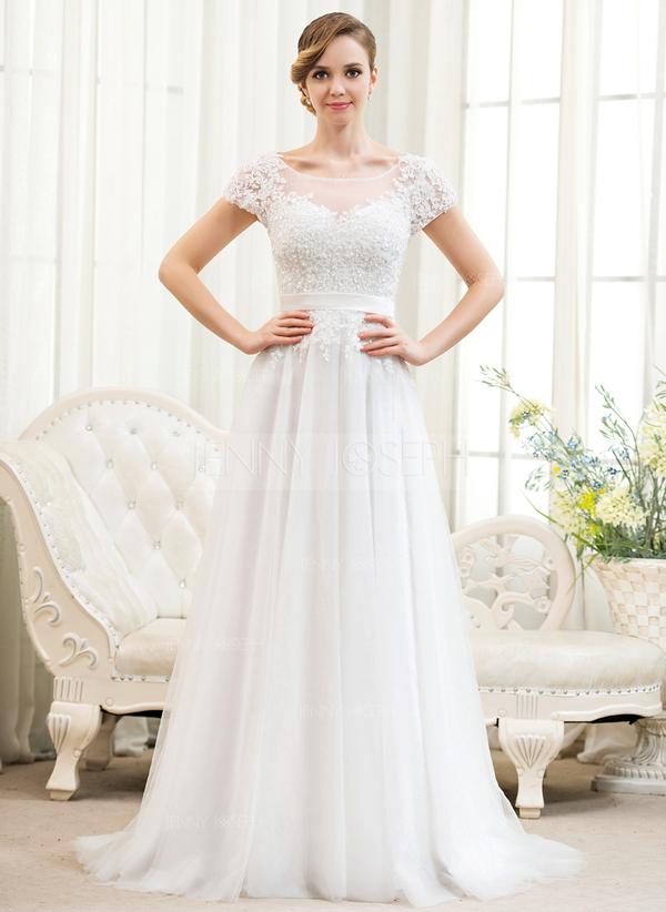 ... Spitze Brautkleid mit Perlen verziert Pailletten (002052783