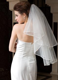 One-tier Waltz Bridal Veils With Ribbon Edge (006036606)
