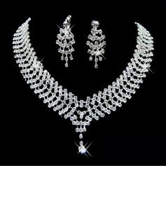 Elegante Liga/Strass Senhoras Conjuntos de jóias (011026998)