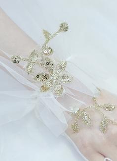 Тюль/Кружева локоть длина Свадебные перчатки (014200780)