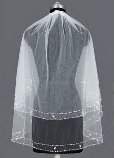 Due strati Velare da sposa gomito con Bordo tagliato (006035461)