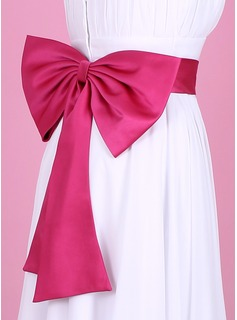 Nice Satin Sash With Bow (015003405)