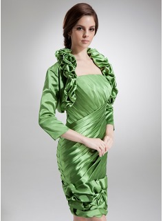 3/4-Length Sleeve Charmeuse Special Occasion Wrap (013016918)
