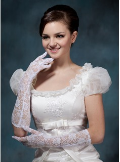 Lace Elbow Length Bridal Gloves (014020498)