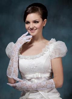 Кружева локоть длина Свадебные перчатки (014020498)