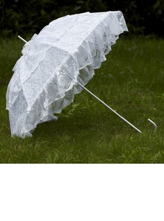 Noble Terylene/Lace Wedding Umbrellas With Appliques (124036913)