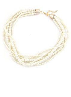 Nice Imitation Pearls Women's Fashion Necklace (011053813)