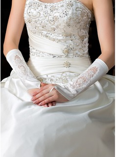 Elastic Satin Elbow Length Party/Fashion Gloves/Bridal Gloves (014036639)