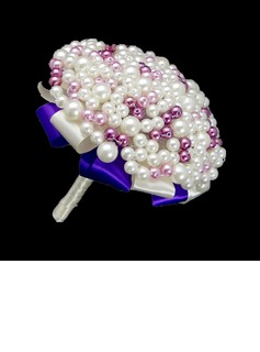 Eye-catching Round Venetian Pearl/Imitation Pearl Bridal Bouquets - (123040051)
