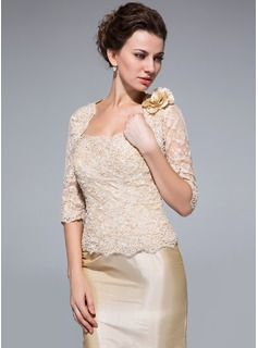 Half-Sleeve Lace Special Occasion Wrap (013033629)