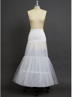 Women Tulle Netting/Polyester/Spandex Floor-length 2 Tiers Petticoats (037033972)