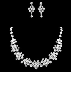 Gorgeous Alloy/Rhinestones Ladies' Jewelry Sets (011016792)