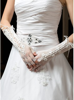 Tulle Elbow Length Party/Fashion Gloves/Bridal Gloves (014035880)