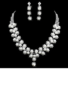 Gorgeous Alloy With Pearl/Rhinestone Ladies' Jewelry Sets (011009885)