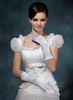 Elastische Satin Elbow Lengte Party/Mode Handschoenen/Bruids Handschoenen (014020518)