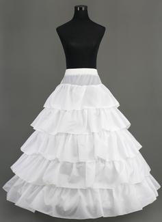 Women Nylon Floor-length 5 Tiers Petticoats (037005376)