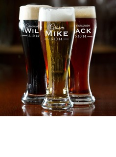 Groomsmen Gifts - Personalized Classic Glass Beer Mug (258174212)