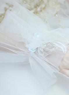Тюль/Кружева локоть длина Свадебные перчатки (014200777)