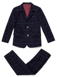 Boys 2 Pieces Plaid Ring Bearer Suits /Page Boy Suits With Jacket Pants (287199774)