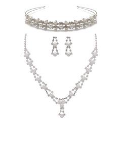 Красивая сплав/жемчуг с горный хрусталь женские Комплекты ювелирных изделий (011027512)