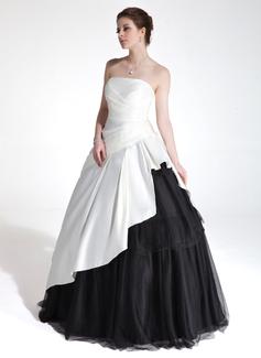 Платье для Балла В виде сердца Длина до пола Шармёз Тюль Пышное платье с Ниспадающие оборки (021020776)
