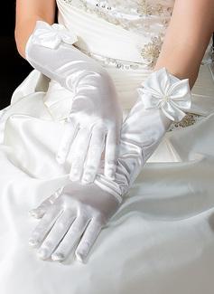 Упругие атласная локоть длина Партии/мода перчатки/Свадебные перчатки (014036640)