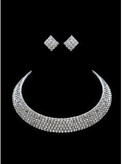 Beautiful Alloy/Rhinestones Ladies' Jewelry Sets (011017027)