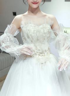 Тюль/Кружева локоть длина Свадебные перчатки (014200788)