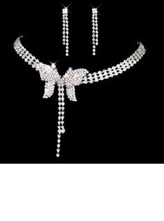 Elegante Liga com Strass Senhoras Conjuntos de jóias (011026989)