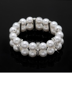 Strand Alloy/Pearl With Pearl/Rhinestone Ladies' Bracelets (011033336)