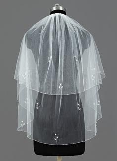Due strati Velare da sposa gomito con Bordo smussato (006035456)