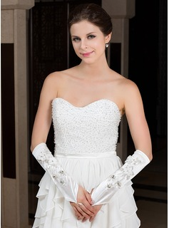 Elastic Satin Elbow Length Party/Fashion Gloves/Bridal Gloves (014036002)