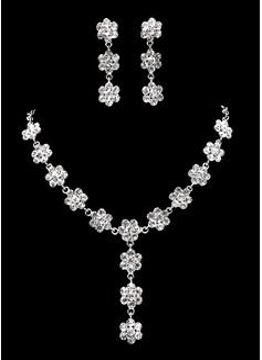 великолепный сплав с горный хрусталь женская Комплекты ювелирных изделий (011019386)