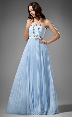Empire Strapless Floor-Length Chiffon Bridesmaid Dress With Pleated (007000961)