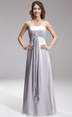 A-Line/Princess Sweetheart Floor-Length Charmeuse Bridesmaid Dress With Sash (007001845)
