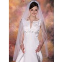 One-tier Fingertip Bridal Veils With Pencil Edge (006020342)
