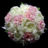прекрасный Круглый атласная Свадебные букеты (123031433)
