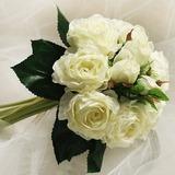 Привлекательный Круглый атласная невесты Букеты (124032125)