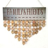 Classic/Heart Design Lovely/Pretty Wooden Wedding Ornaments (Sold in a single piece) (131178961)