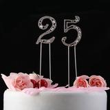 Brilhante Pedrinhas Número Cromado Aniversário Decorações de bolos (119031362)