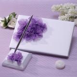 Bonito Pétalas/Flor Livro de visitas & conjunto de canetas (101037363)
