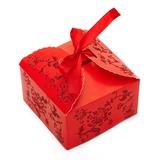 Bloemen ontwerp Balk Kaart Papier Bedank Doosjes (Set van 12) (050024300)
