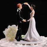 Estatueta Dança do casal Resina Casamento Decorações de bolos (119057805)