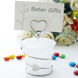 Heart Shaped Iron Place Card Holders (051201883)