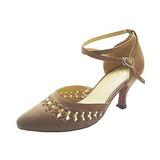 Женщины нубук На каблуках На каблуках Современный с Ремешок на щиколотке Обувь для танцев (053013037)
