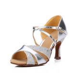 Femmes Similicuir Pailletes scintillantes Sandales Latin Chaussures de danse (053123668)
