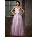 Ball-Gown Sweetheart Floor-Length Tulle Prom Dress (018005099)