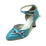 Женщины кожа Мерцающая отделка На каблуках На каблуках Современный Бальные танцы с бантом Обувь для танцев (053013400)