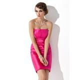 Платье-чехол Волнистый Мини-платье Шармёз Платье для Отдыха с Рябь (020003257)